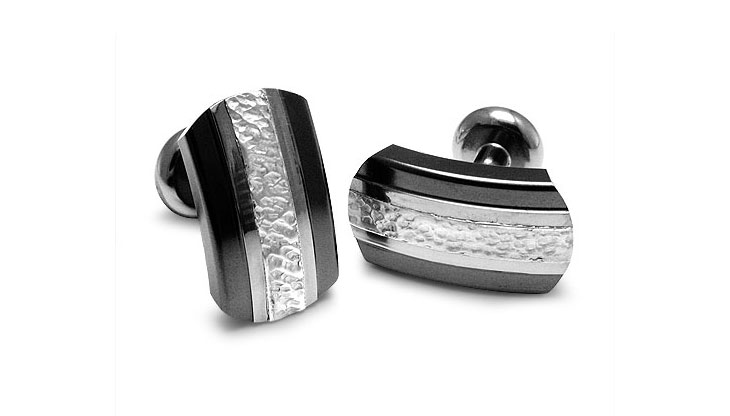 Edward Mirell - 115_edward-mirell_black-titanium-and-sterling-silver-accessory_a363o-00000_l.jpg - brand name designer jewelry in Richfield, Minnesota