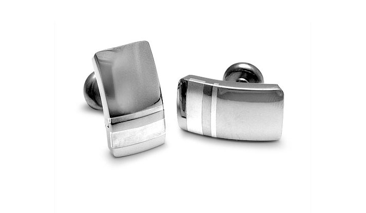 Edward Mirell - 141_edward-mirell_gray-titanium-and-sterling-silver-accessory_a362n-00000_l.jpg - brand name designer jewelry in Richfield, Minnesota