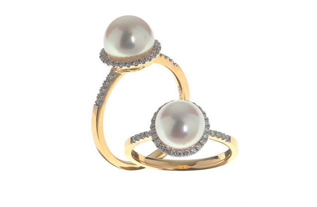 Imperial Pearls - halo-ring-916830A7.jpg - brand name designer jewelry in Conroe, Texas