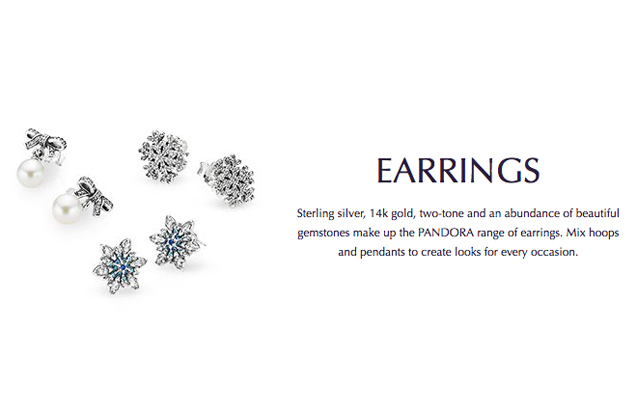 Pandora - pandora-earrings.jpg - brand name designer jewelry in Enumclaw, Washington