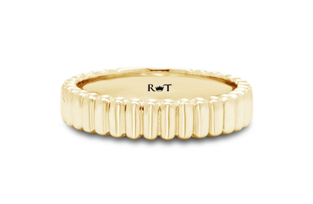 Rony Tennenbaum - rony_tennenbaum_gold_gay_lesbian_marriage_wedding_anniversary_band_ripples_of_love_RJ5208Y.jpg - brand name designer jewelry in Oceanside, New York