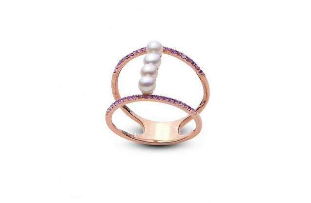 Imperial Pearls - rose-gold-amy-ring-918301RGAM.jpg - brand name designer jewelry in Conroe, Texas