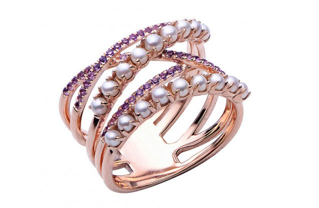 Imperial Pearls - rose-ring-918150rgam.jpg - brand name designer jewelry in Conroe, Texas