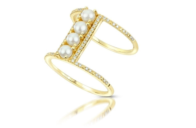 Imperial Pearls - seed-pearl-bar-ring-917119FW.jpg - brand name designer jewelry in Conroe, Texas