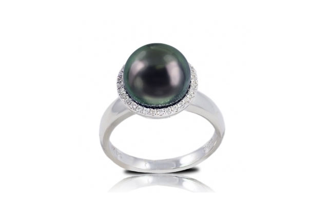 Imperial Pearls - tahitian-halo-ring-916930BWH.jpg - brand name designer jewelry in Conroe, Texas