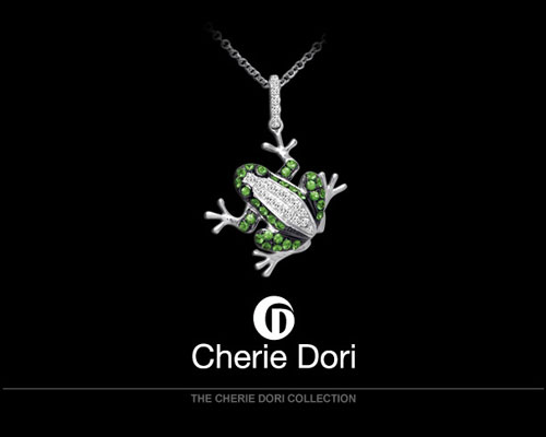 "Cherie Dori jewelry celebrates the natural love that speaks from within. ""I start with words,"" says Nelly Cohen, jewelry designer for Cherie Dori. ""The lyrics prevail the design. When I hear the rhythm I know a winner is born."" Follow your heart with a jewelry design by Cherie Dori."
