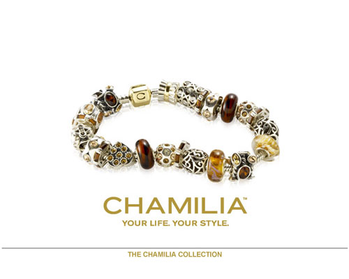 Welcome to the World of Chamilia. Discover all the ways to express yourself with one-of-a-kind jewelry. Design combinations of dazzling sterling silver, 14k gold, Swarovski crystal, colored stones and Italian Murano glass that reflect your life and your experiences. Inspired by your personal sense of style, your Chamilia jewelry is as unique as you are.