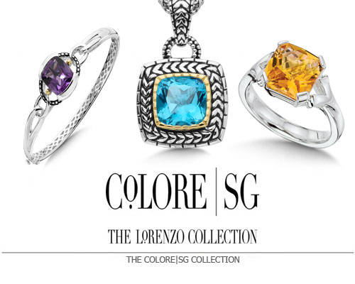 Among the Colore | SG collections, you will find the finest examples of colored gemstones from around the world, set in sterling silver and sterling silver & 18k gold designs that enable you to express yourself through any occasion and throughout your life. Originally The Lorenzo Collection, Colore | SG presents our world of color where you can find your personal style. Explore our world of wonder, and share in the delight of rich color, luxurious beauty and accessible design.
