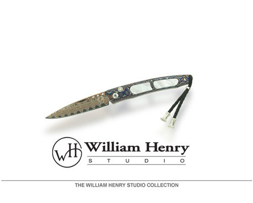 "William Henry creates a range of tools so perfectly conceived and executed that they transcend superlative function to become superlative art. Their cutting instruments offer unmatched performance as daily carry tools and are found among the finest collections in the world. Each component is precision machined to tolerances reserved for aerospace level work -- often measured at 0.0005"", or one twelfth the size of a human hair. The final fit, finish, action, and sharpness of each knife are achieved entirely by hand, employing the irreplaceable craftsmanship developed by generatio..."